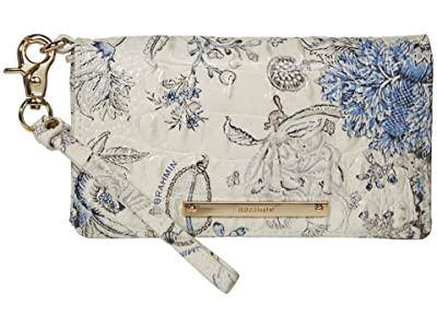 Brahmin Melbourne Debra Wallet (Blue Jay) Handbags