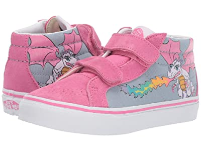 Vans Kids SK8-Mid Reissue V (Little Kid/Big Kid) ((Rainbow Dragon) Blue Fog/True White) Girls Shoes