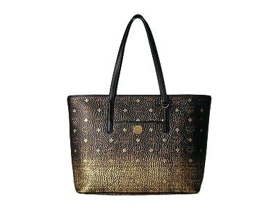 MCM Gradation Visetos Shopper Medium (Gold) Handbags