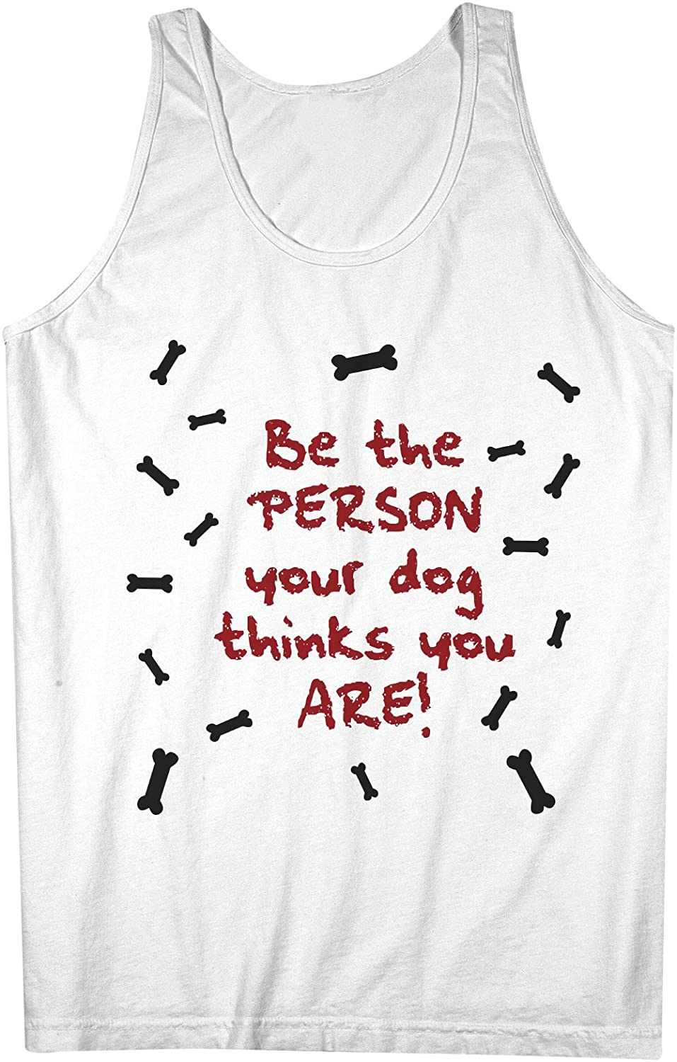 Be The Person Your 犬 Thinks You Are おかしいです 犬z Pet Lover 男性用 Tank Top Sleeveless Shirt