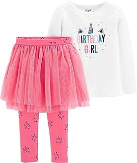 Carter's Girls 2-Piece Birthday Girl Unicorn Long Sleeve Top & Pink Tutu Pant Set (6 Months)