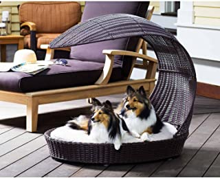 Outdoor Dog Chaise Bed n Espresso