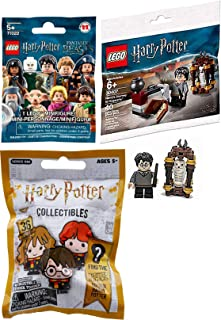 LEGO Fantastic Mini HP Figure Micro Harry Potter Set Journey to Hogwarts Bundled with Wizard Collectibles Blind Bag Pencil Topper & Lego Beasts Figure Character 3 Items