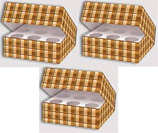 Plaid Bakery Boxes with Inserts 12