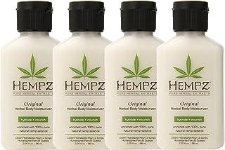 Hempz Original Herbal Body Moisturizer, 2.25 Oz Pack Of 4, 2.25 Oz
