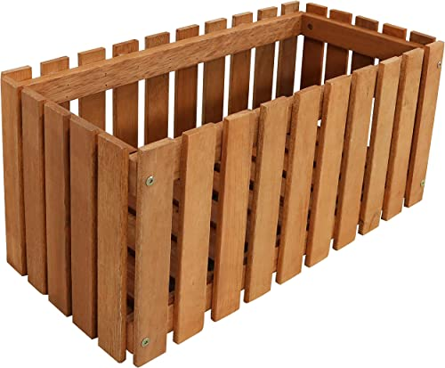 wholesale Sunnydaze Meranti Wood Picket discount Style Planter Box - Outdoor Wooden Decorative Holder with outlet sale Fence Design for Flowers, Herbs, Vegetables and Plants - Ideal for Patio and Porch - 24-Inch outlet sale