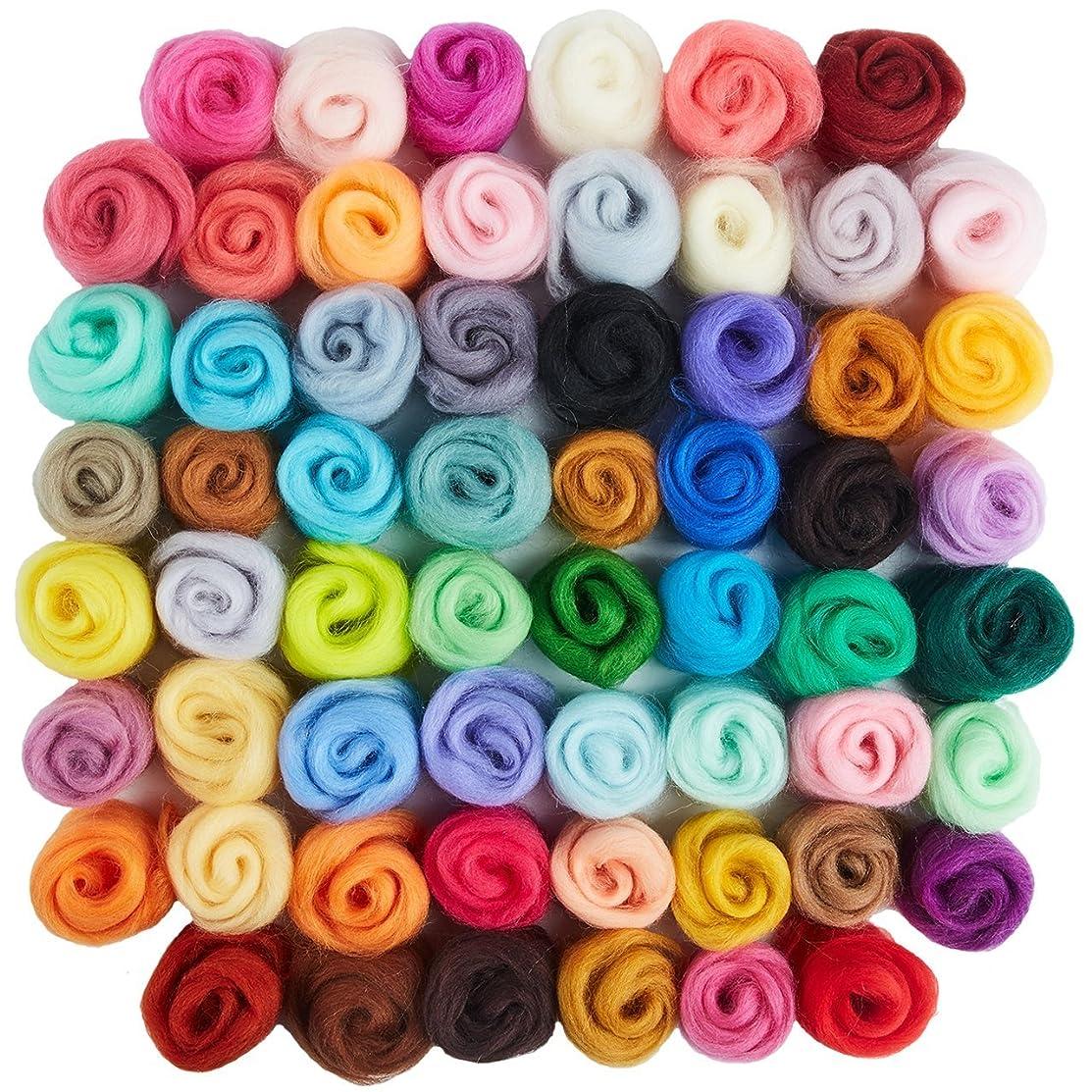 Vranky 60 Colors Wool Roving/Roving/Roving Wool/Needl/Felting Wool/Fibre Wool
