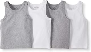 Moon and Back by Hanna Andersson Boys' 4-Pack Organic Cotton Muscle Tank