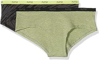 PUMA Womens Unterhose MINISTRIPE/Slash Hipster 2P, Multicoloured