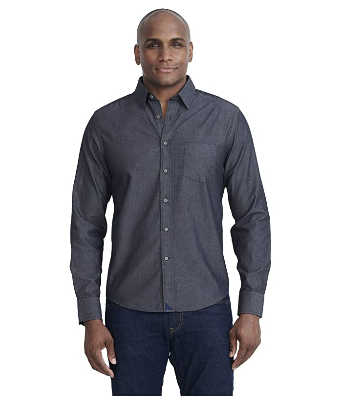 Men's Vintage Workwear – 1920s, 1930s, 1940s, 1950s UNTUCKit Classic Chambray Shirt Grey Mens Clothing $89.00 AT vintagedancer.com