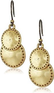 Double Drop Earrings, Gold, One Size