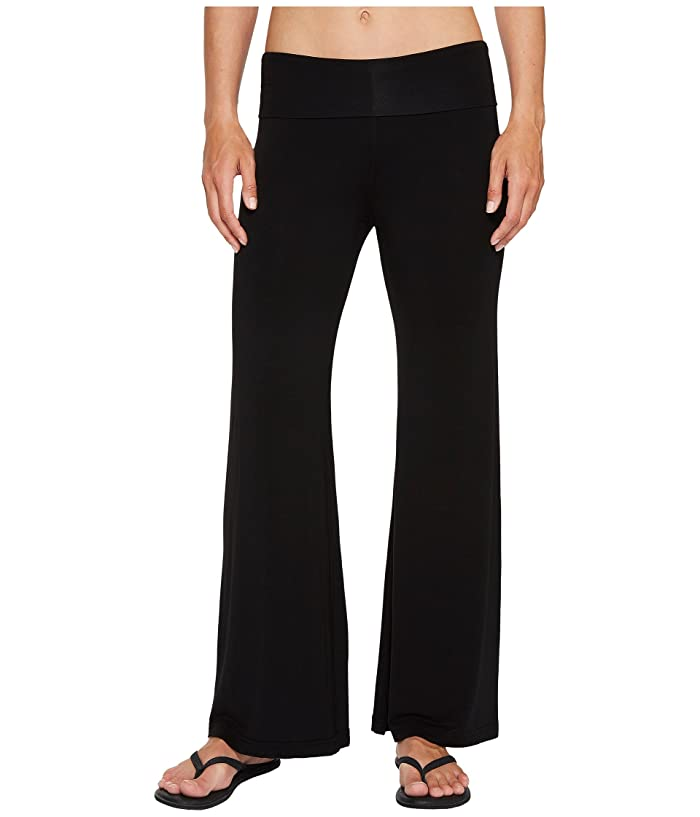 Hard Tail Flare Leg Pants (Black) Women