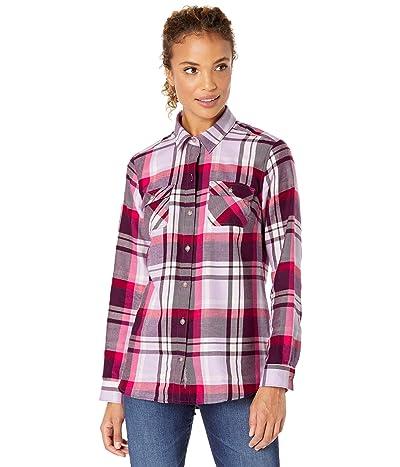Eddie Bauer Plus Size Firelight Flannel Shirt (Light Plum) Women