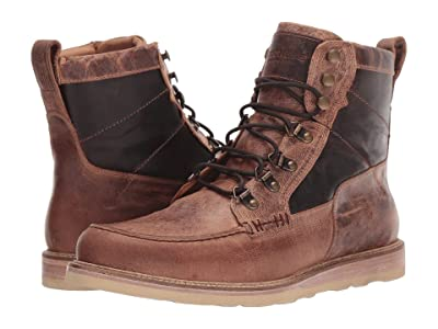 Lucchese Lace-Up Range Boot (Tan Distressed Goat) Men