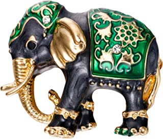 Clearine Women's Lovely Cute Crystal Elephant Enamel Brooch Pin