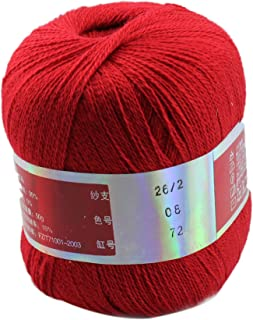 Celine lin One Skein Pure Cashmere Knitting Yarn,Red