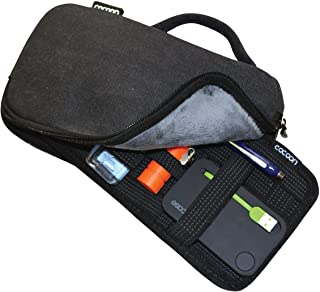 Cocoon CSG270BK Waxed Canvas Gadget Case with Grid-IT!® (Black)