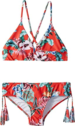 Seafolly Kids - Jungle Paradise Tri Kini Set (Little Kids/Big Kids)