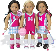 Sophia's Doll Clothes Sports Uniform & Equipment | Fits 18 Inch Dolls | Tank, Shorts, Skort, Shin Guards, Basketball, Field Hockey, Lacrosse