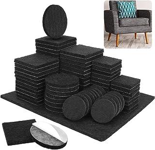 Sinwind Almohadillas de Fieltro Adhesivas para Muebles, Protectores de Fieltro, Protector Patas sillas para Muebles y sillas, Set de Tamaño Medio Diferentes Formas Protector de Suelo Autoadhesivo