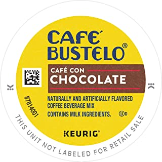 Cafe Bustelo Café Con Chocolate, Sweet & Creamy, Espresso Coffee, K Cup Pods for Keurig Brewers, 96Count