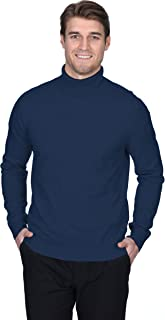 State Fusio Men's Turtleneck Sweater Cashmere Merino Wool Long Sleeve Roll Neck Pullover