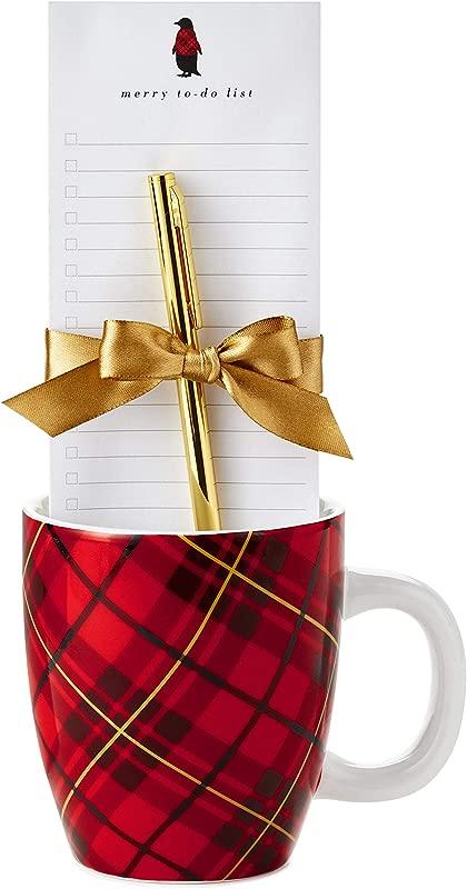 Hallmark Mug And Notepad Bundle Classic Plaid