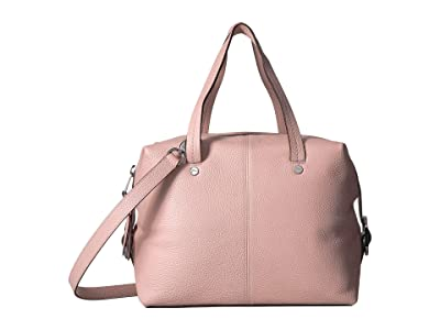 J.Crew Pebbled Leather Butterfly Satchel (Sunwashed Pink) Handbags