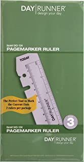 Day Runner Plastic Page Marker Ruler, Clear (043-104)