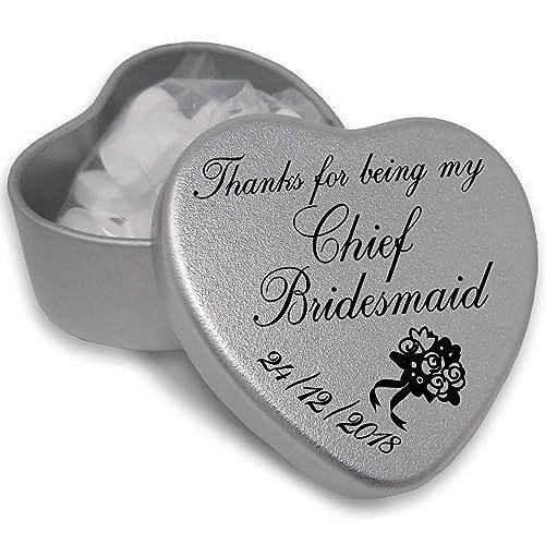 I Love You Zoe Mini Heart Tin Gift For I Heart Zoe With Chocolates or Mints