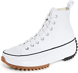 Converse Men's Run Star Hike High Top Sneakers, White/Black/Gum, 11.5 Medium US
