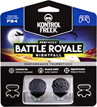 KontrolFreek FPS Freek Battle Royale Nightfall for PlayStation 4 (PS4) Controller | Performance Thumbsticks | 2 High-Rise Convex (Domed) | Black