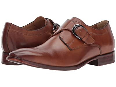 Johnston & Murphy McClain Dress Monk Strap (Tan Full Grain) Men