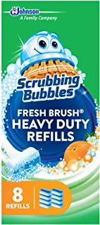 Scrubbing Bubbles Fresh Brush Heavy Duty Disposable Toilet Cleaner Wand Refills, Remove Toilet Bowl Stains and Limescale, ...