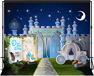 musykrafties Fairytale Storybook Princess Castle Dreamy Night Party Backdrop Large Banner Decoration Dessert Table Photography Background Photobooth Prop 12x10 feet