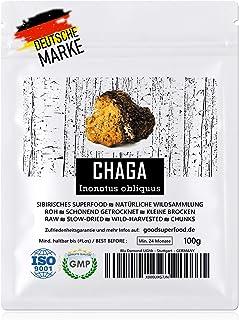CHAGA Sibirisches Superfood - Natürliche Wildsammlung | TOP-Qualität vom Original | GMP  ISO-9001-zertifiziert  laborgeprüft | roh vegan  schonend getrocknet | kleine Brocken kein Pulver | 100g
