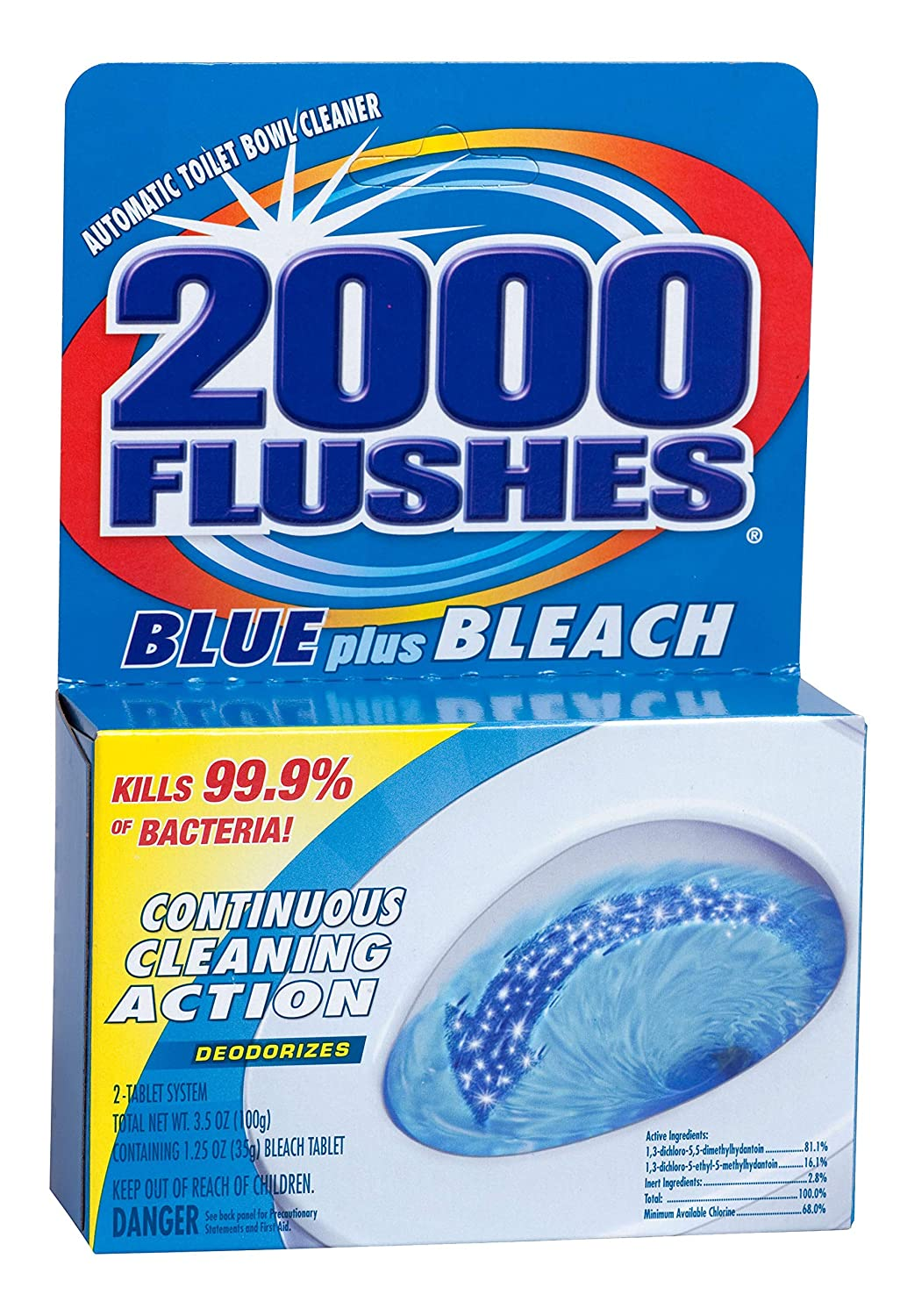 Max 59% OFF 2000 FLUSHES Attention brand 208082 Blue Plus Clean Toilet Bowl Automatic Bleach