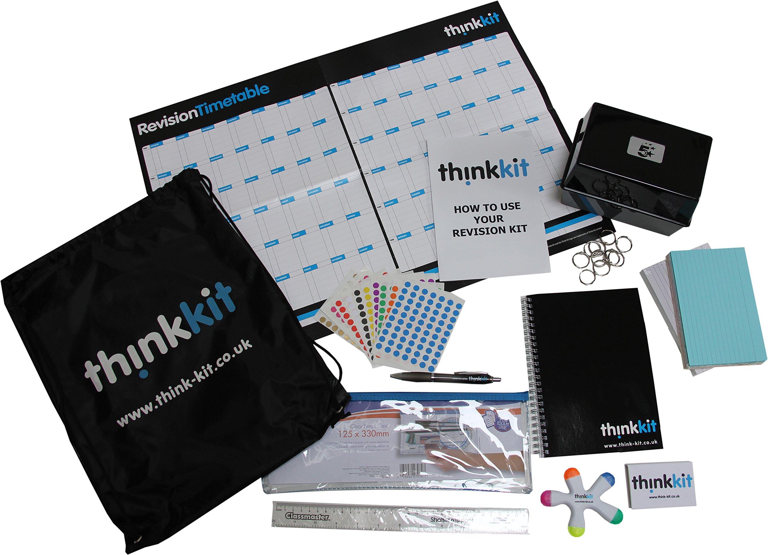 Think Kit: Pack para revisión y estudio. Suministros de papelería y herramientas de planificación para estudiantes