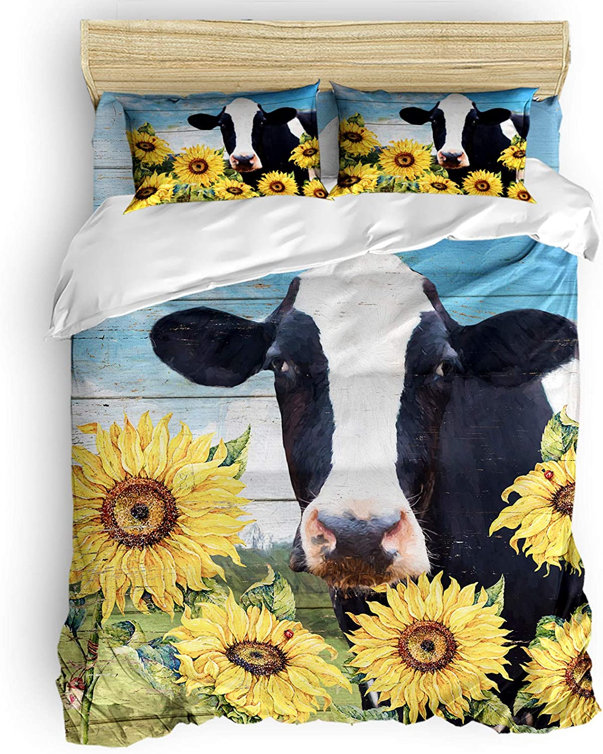 BABE MAPS Luxury Farmhouse Duvet Cover Shipping included Set Bedding 4 Accessories of wi