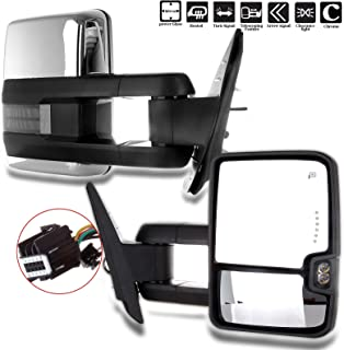 ECCPP Chrome Side Mirrors for 07-14 Sierra Towing Power Heated Signal Pair