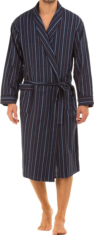 harvey james Mens Long Sleeve Paisley Dressing Gown - Grey - L
