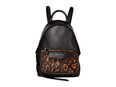 Rebecca Minkoff Emma Mini Convertible Backpack (Leopard) Backpack Bags