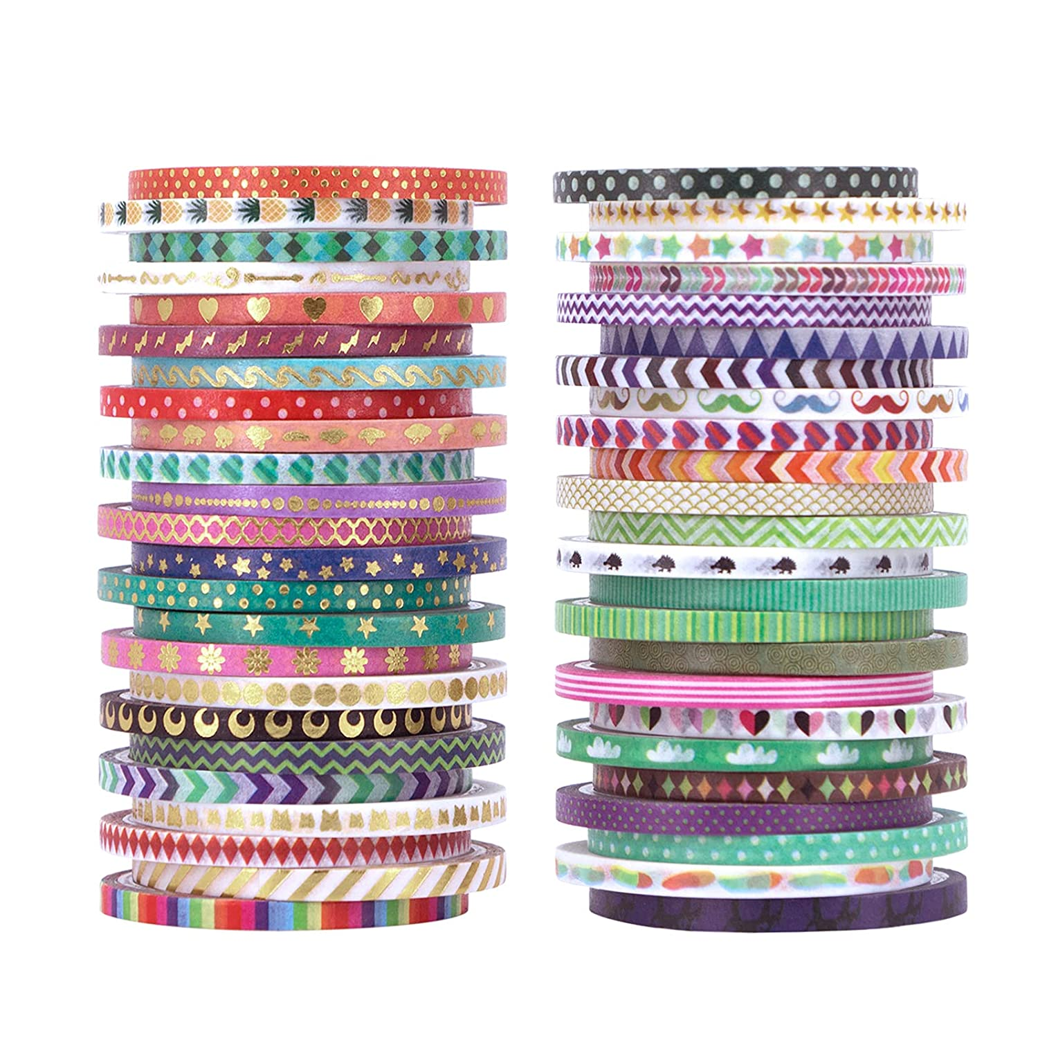 Cute OFFicial 48 Rolls Washi Tape Fort Worth Mall Set W Decorative Masking Gold Foil Thin