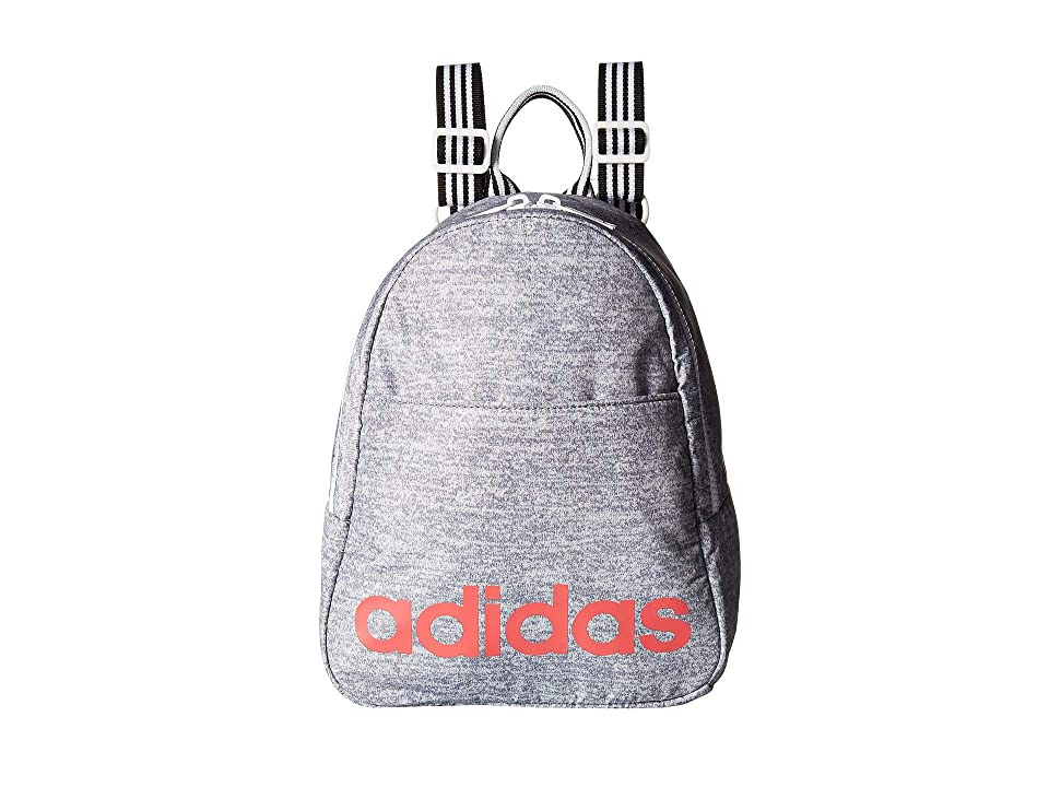 adidas Core Mini Backpack (Grey Jersey/White/Prism Pink/Black) Backpack Bags