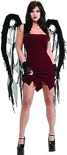 Black Fallen Angel Sexy Tattered Gauze Wings