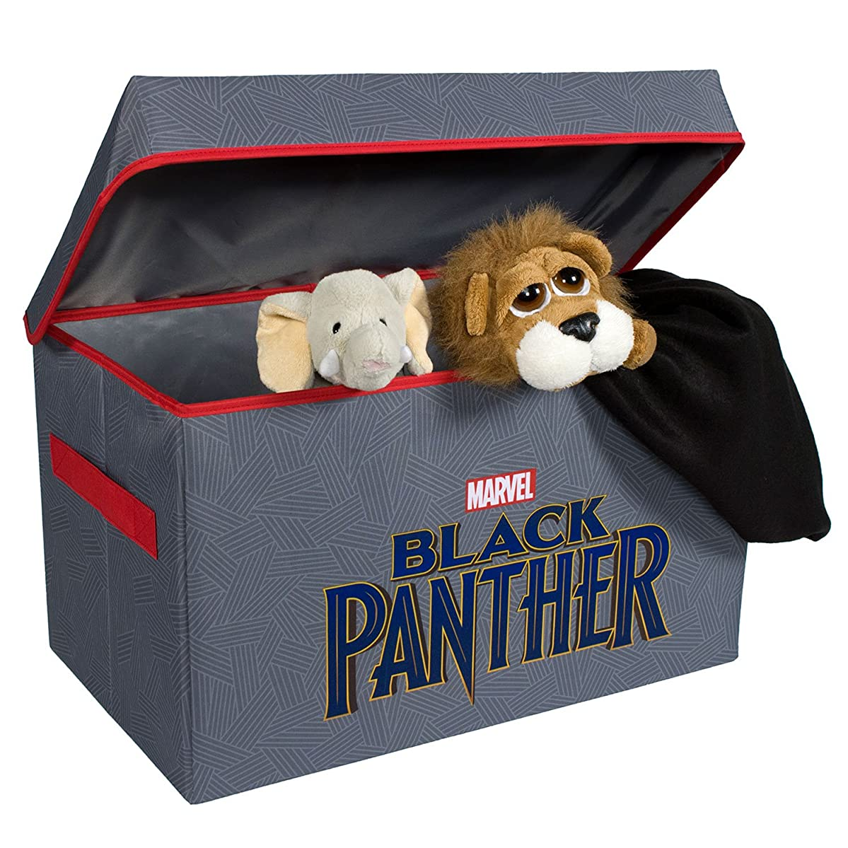 Black Panther Collapsible Kids?Toy Storage Chest by?Marvel - Flip-Top Toy Organizer Bin for Closets, Kids Bedroom, Boys & Girls Toys - Foldable Toy Basket Organizer with Strong Handles & Design
