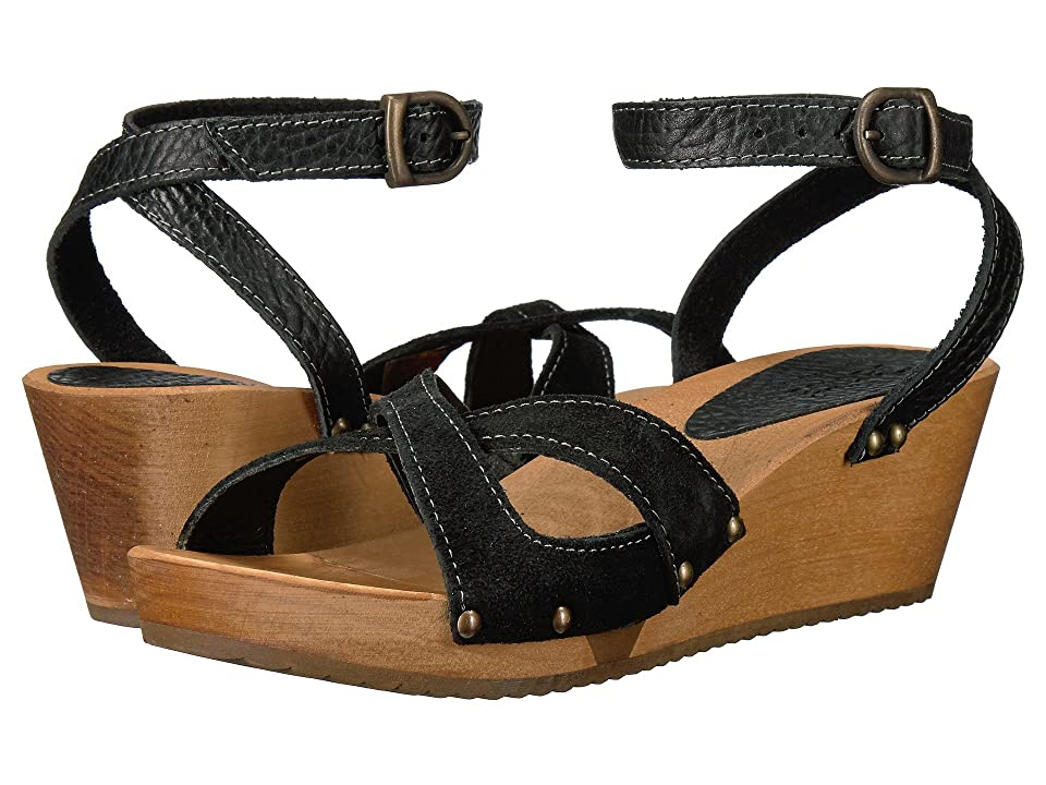 Sanita Thalia Wedge Flex Sandal (Black) Women