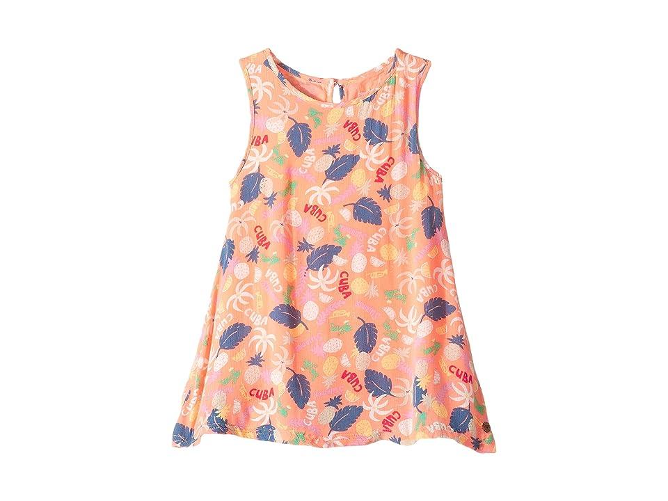Roxy Kids Everyone on a Run Printed Dress (Toddler/Little Kids/Big Kids) (Peach Nector Exotic Tic) Girl