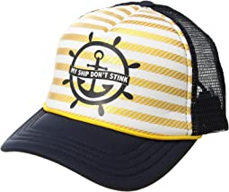 "San Diego Hat Company Kids ""My Ship Don't Stink."" Trucker (Toddler/Little Kids)"