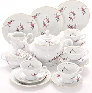 Tea With Grace Rose Garden Fine China Tea Set for Four
